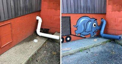 Sokaklardaki grilikleri birer sanat eserine dönüştüren Tom Bob adında biri