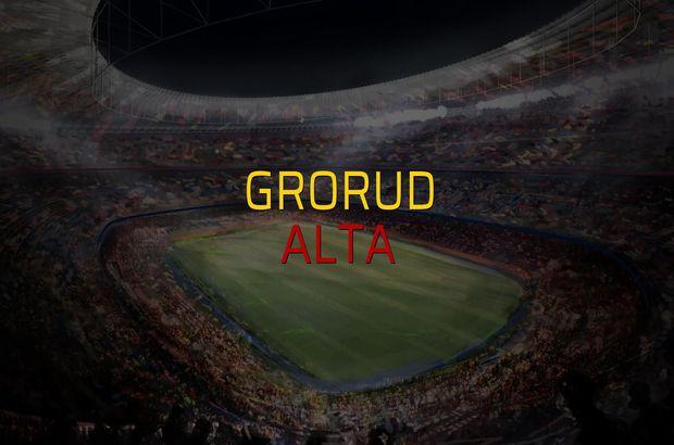 Grorud - Alta maçı heyecanı