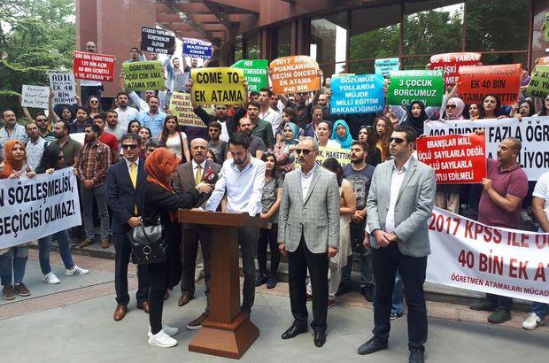 Atama bekleyen öğretmenler Ankara'da eylem yaptı
