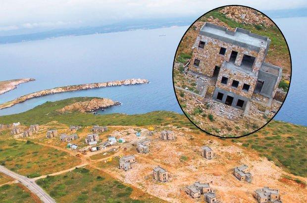 Bozcaada lüks villalar Çanakkale  Akvaryum Koyu