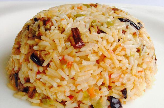 Patlıcanlı pilav tarifi: Şekli, tadı, kokusu nefis patlıcanlı pilav nasıl yapılır?