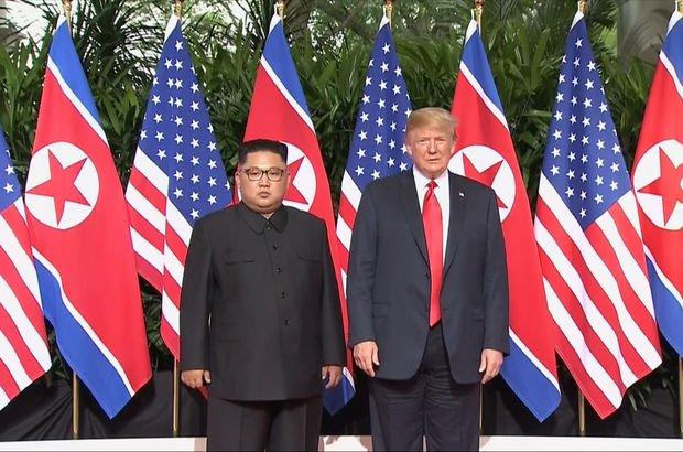 Son dakika: Trump ve Kim Jong-Un bir arada! Singapur'da tarihi zirve...