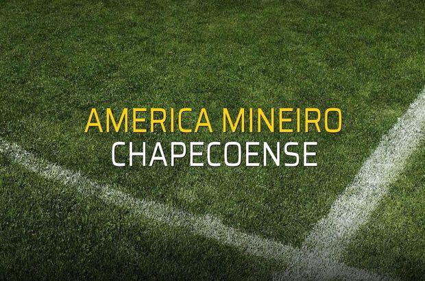 America Mineiro - Chapecoense maç önü