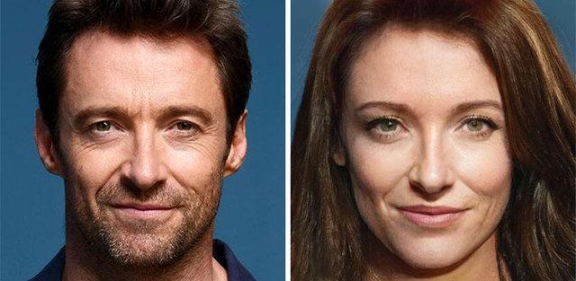 Dünyaca ünlü oyuncular kadın olsaydı nasıl görünürdü?