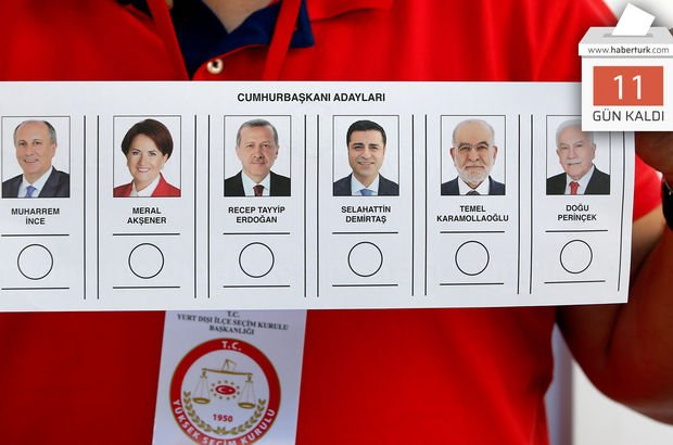 Son dakika... 24 Haziran seçimlerine son 11 gün (13 Haziran 2018)