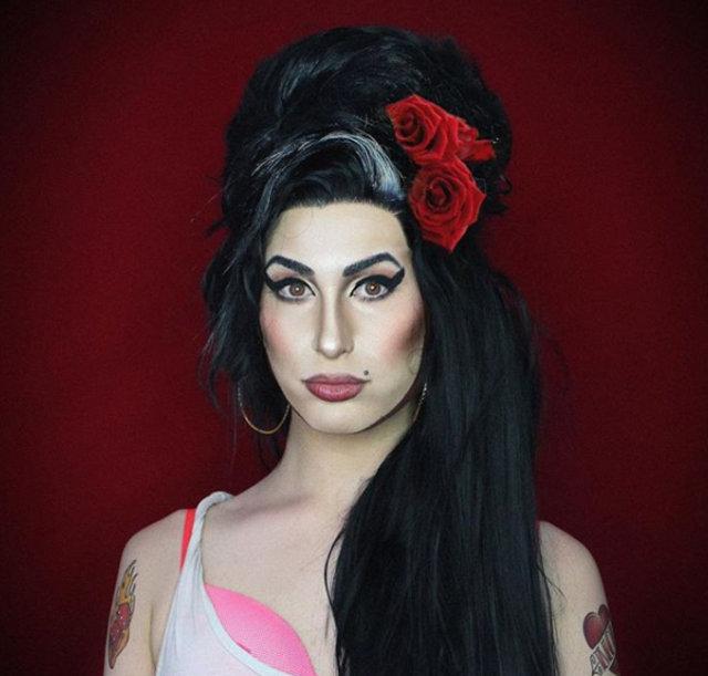 Makyaj yaparak ünlüleri birebir kopyalayan Alexis Stone!