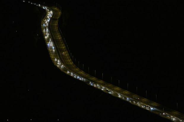 Kazalar zaman zaman trafiği yavaşlatıyor