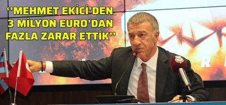 Trabzonspor Başkanı Ahmet Ağaoğlu'ndan Burak Yılmaz ve Mehmet Ekici açıklaması