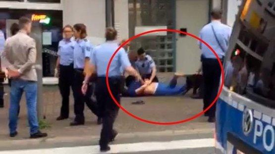 Almanya'da bir Türk'e polis köpeği ile şiddet! İşte o anlar...