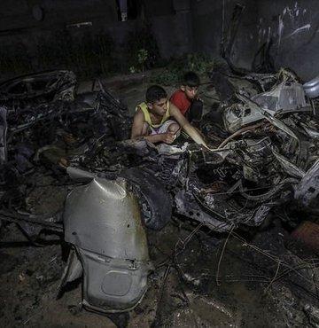 İsrail'den Gazze'deki 9 hedefe saldırı!