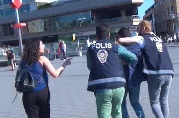 Susmadı! Çığlıklarıyla Taksim'i inletip, tacizciyi böyle yakalattı