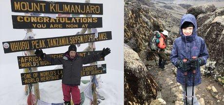 7 yaşında Afrika'nın en yüksek dağı olan Kilimanjaro'ya tırmandı