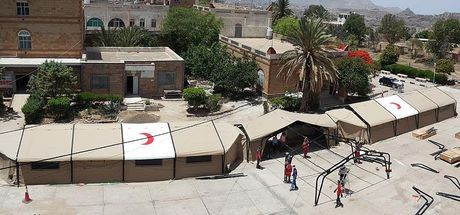 Türkiye'den Yemen'e sahra hastanesi