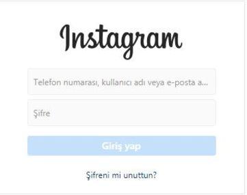 instagram sifremi unuttum iphone