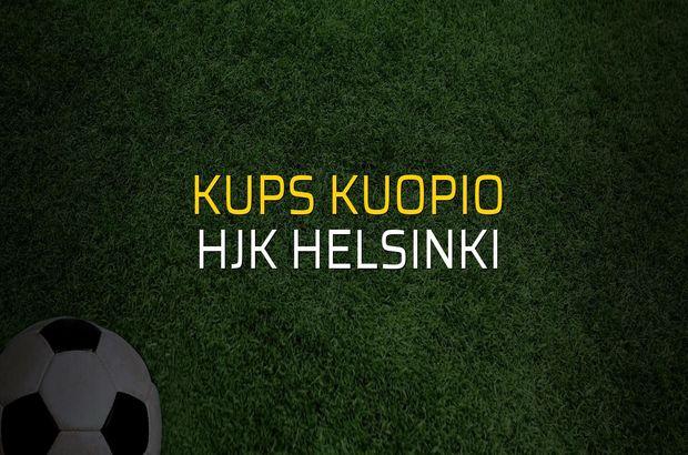 KuPS Kuopio - Hjk Helsinki maçı öncesi rakamlar