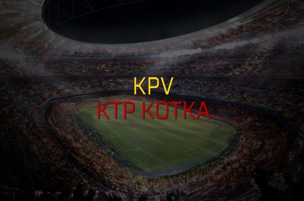 KPV - KTP Kotka maçı öncesi rakamlar