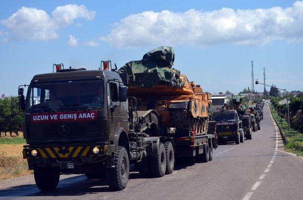 Hatay'daki 20 tank birliklere sevk edildi