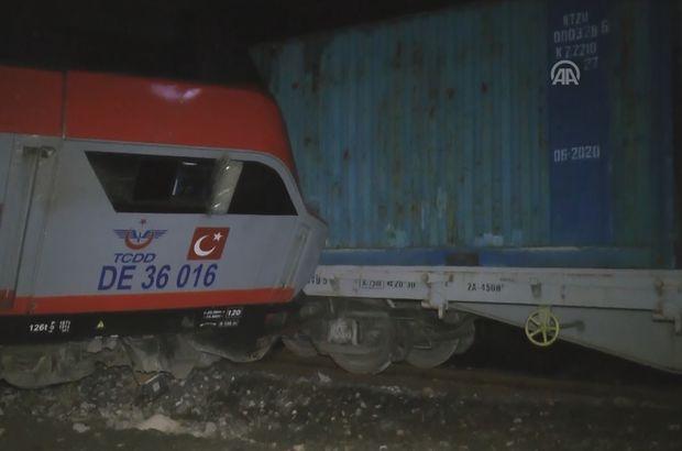 Erzincan'da yük treni raydan çıktı