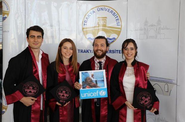 Intern maaşları ile UNICEF'e aşı bağışı yaptılar