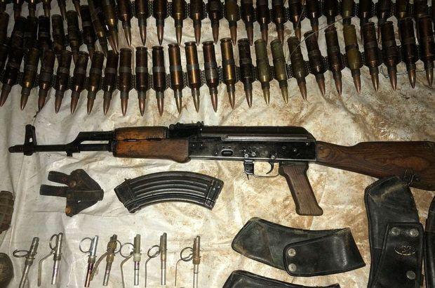 Hakkari'de terör örgütüne operasyon!  Çok sayıda mühimmat ele geçirildi
