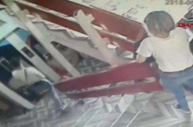 Korkunç olay güvenlik kameralarına yansıdı