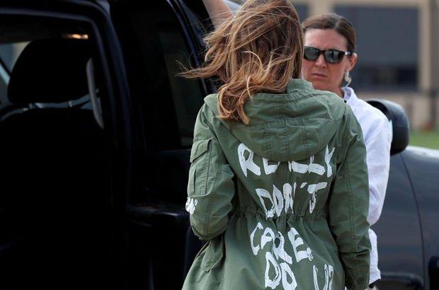 First Lady'nin ceketinde kafa karıştıran mesaj!