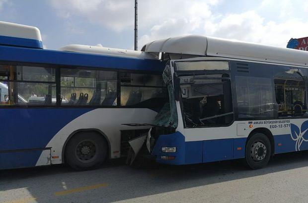 Son dakika: Ankara'da otobüsler çarpıştı! Ölü ve yaralılar var