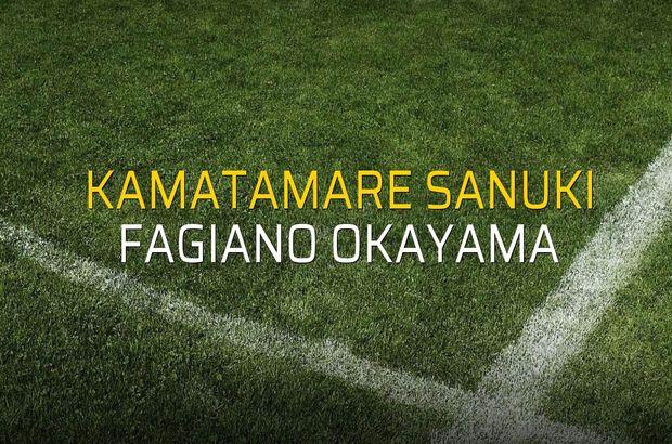 Kamatamare Sanuki - Fagiano Okayama maçı öncesi rakamlar