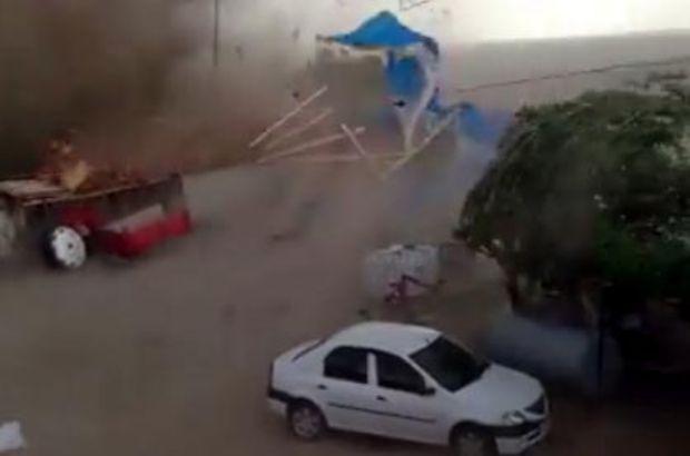 Edirne'de hortum çatıları uçurdu