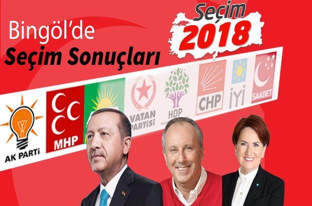 2018 Bingöl seçim sonuçları: Bingöl Cumhurbaşkanlığı seçim sonuçları ve oy oranları (24 Haziran)