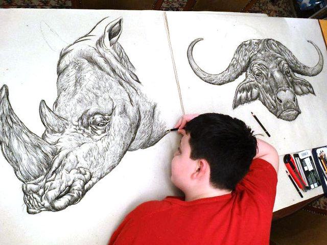 15 yaşındaki Sırp sanatçının birbirinden etkileyici çizimleri