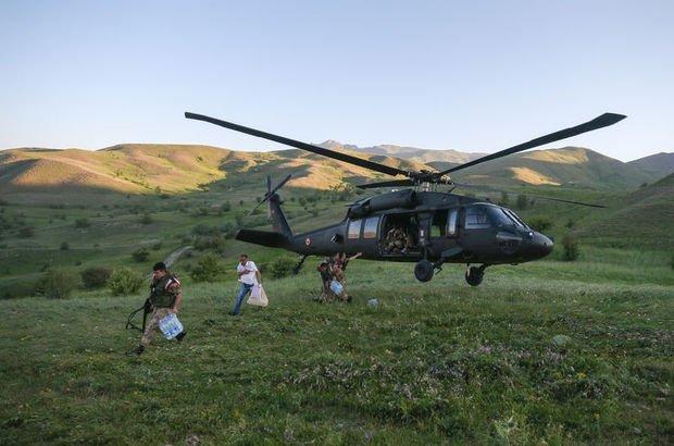 Van'da, oy pusulaları kırsal alanlara askeri helikopterle taşındı