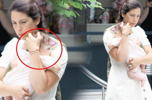 Emine Boyner Kürşat'ın kızı Şira bebek göründü - Magazin haberleri