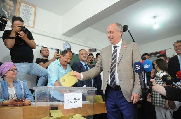 Son dakika: Cumhurbaşkanı adayı Muharrem İnce oy kullandı