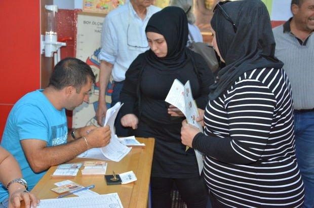Suriyeliler ilk kez oy kullandı