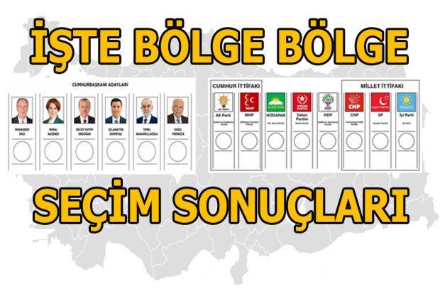Bölge bölge seçim sonuçları! Hangi bölgede hangi parti önde?