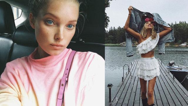 Elsa Hosk'tan yağmur altında poz - Magazin haberleri