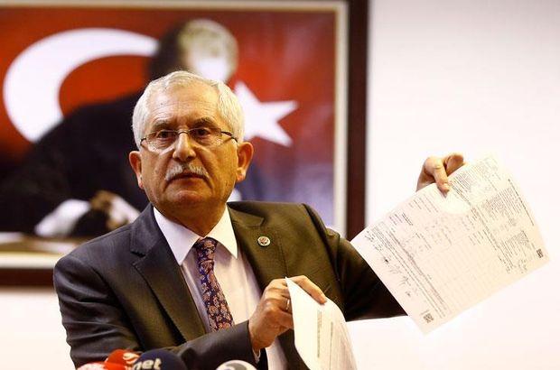 YSK Başkanı Sadi Güven açıklama yapıyor