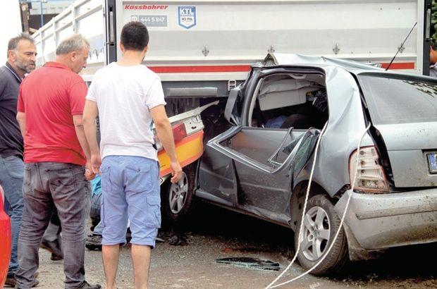 Kaza, anne-babayı çocuklarından ayırdı