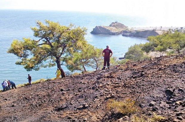 Fethiye'de sahilde yangın çıktı