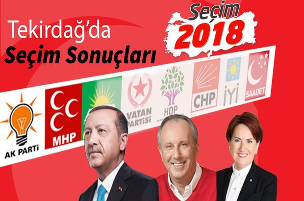 Tekirdağ 24 Haziran seçim sonuçları