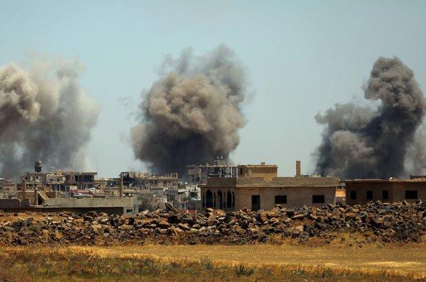 Suriye'de rejim çatışmasızlık bölgesi Deraa'yı bombaladı