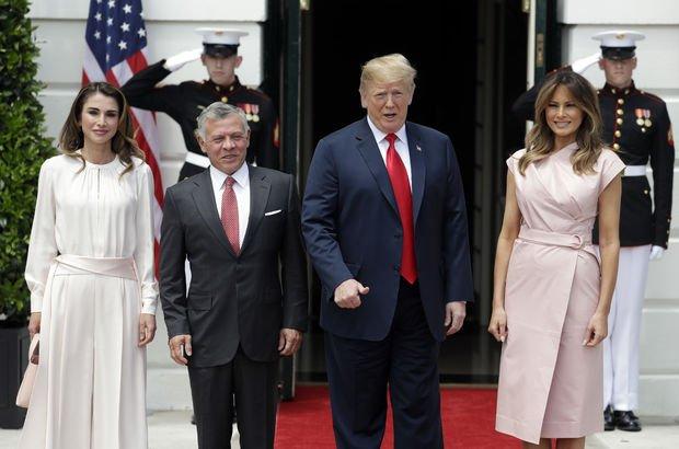 Trump Kral Abdullah ile Beyaz Saray'da görüştü