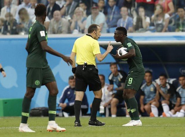 Cüneyt Çakır, Nijerya Arjantin maçına damga vurdu (Dünya Kupası maçları)
