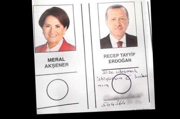 Seçmen pusulada Cumhurbaşkanı Erdoğan'a not bıraktı