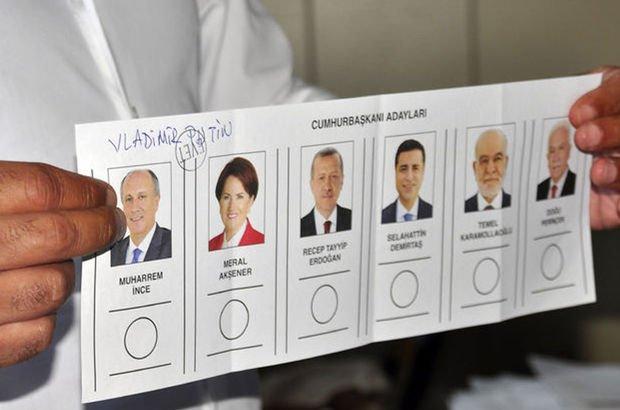 24 Haziran seçim sonuçlarına göre, oyların yüzde 2.1'i geçersiz sayıldı