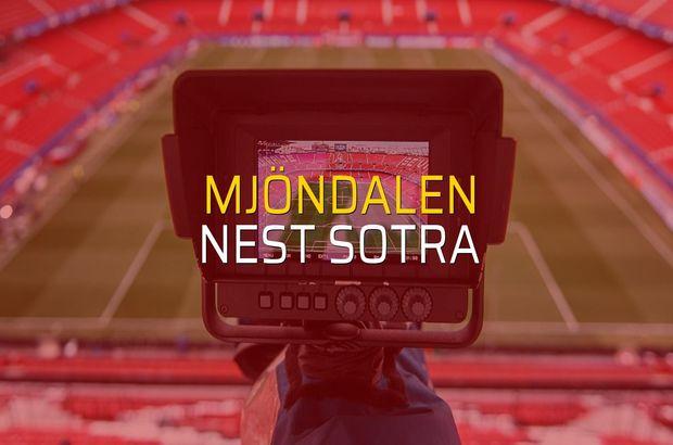 Mjöndalen - Nest Sotra maçı istatistikleri
