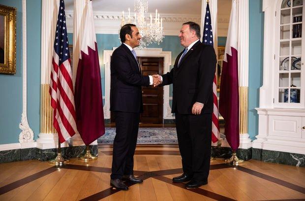Pompeo Katar Emiri Al Thani ile görüştü
