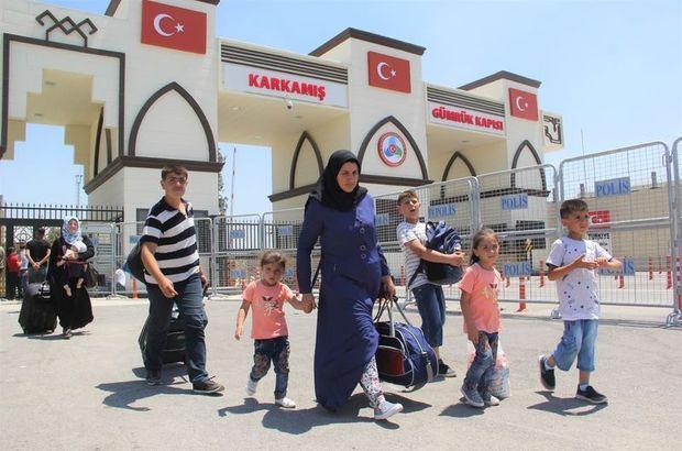 Bayram tatiline giden Suriyelilerin dönüyor