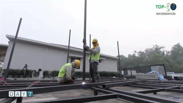 Sadece 6 günde ev inşa ettiler!